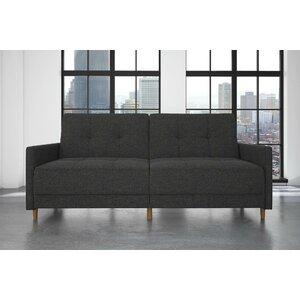 Midtown Linen Convertible Sofa by Brayden Studio