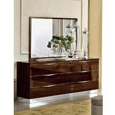 Edwards 6 Drawer Double Dresser with Mirror by Orren Ellis