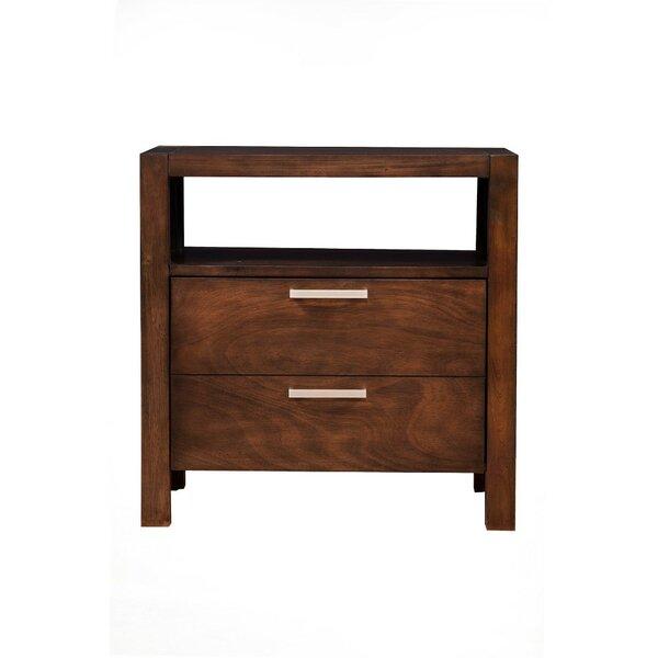 East Drive Open Shelf 2 Drawers Nightstand by Corrigan Studio
