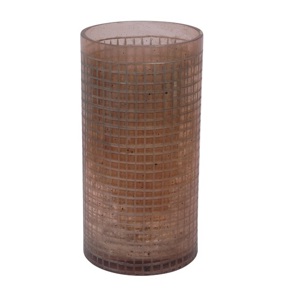 Glass Hatched Vase by BIDKhome