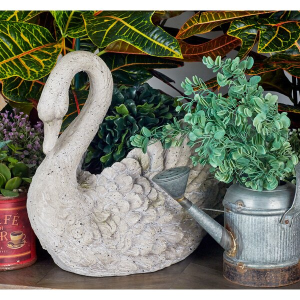 Polystone Swan Table Vase by Cole & Grey