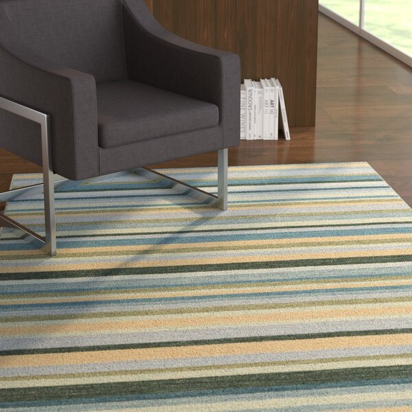 Dixon Hand-Woven Green Area Rug by Ebern Designs