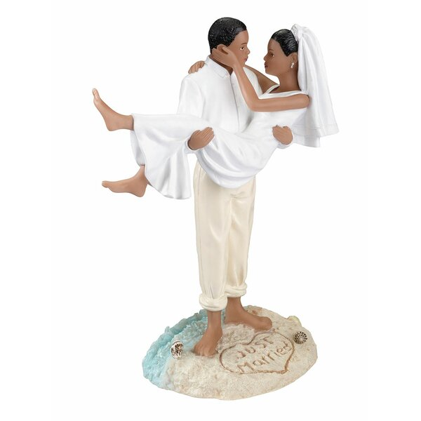 African American Beach Wedding Cake Topper by Lillian Rose