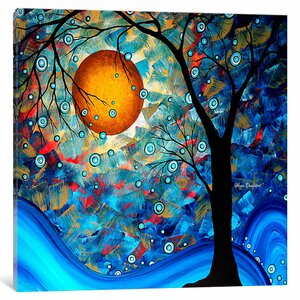 'Blue Essence Original' Painting Print on Wrapped Canvas by East Urban Home