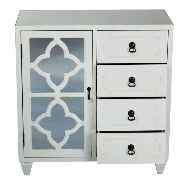 Nakashima 4 Drawer Accent Cabinet by Bungalow Rose Bungalow Rose