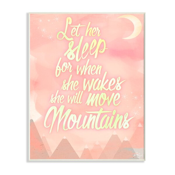 Let Her Sleep Water Mountains Wall Plaque by Stupell Industries
