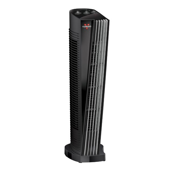 1,500 Watt Portable Electric Fan Tower Heater with Adjustable Thermostat by Vornado