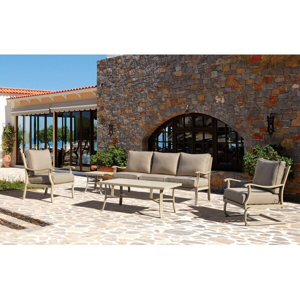 Caressa Deep Sunbrella Seating Group with Cushions by Darby Home Co