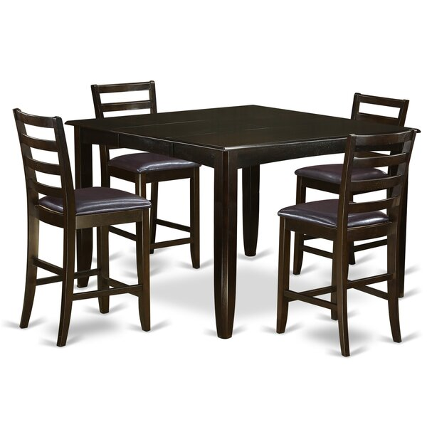 Tamarack 5 Piece Solid Wood Dining Set by Red Barrel Studio