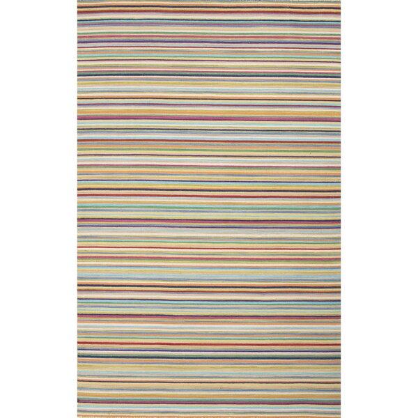 Shane Orange/Blue Stripe Indoor Area Rug by Zipcode Design