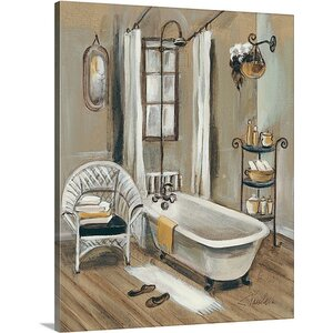 'French Bath II' by Silvia Vassileva Painting Print on Canvas by Great Big Canvas
