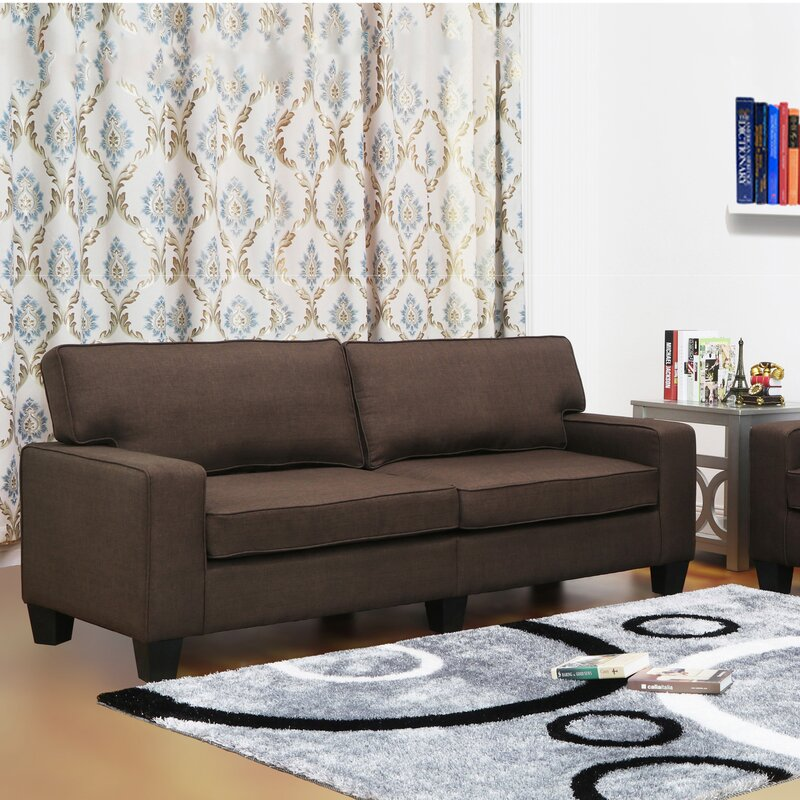 Living In Style Jordan Linen Modern Living Room Sofa & Reviews ...
