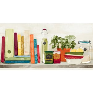 'Kitchen Shelf' Painting Print on Wrapped Canvas by Red Barrel Studio
