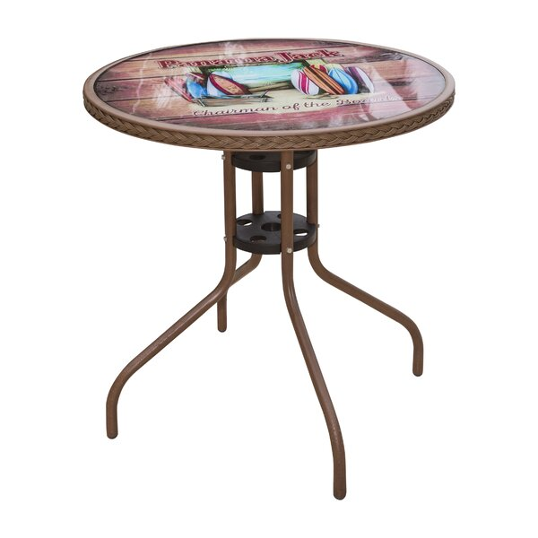 Cafe Chairman of the Boards Bistro Table by Panama Jack Outdoor