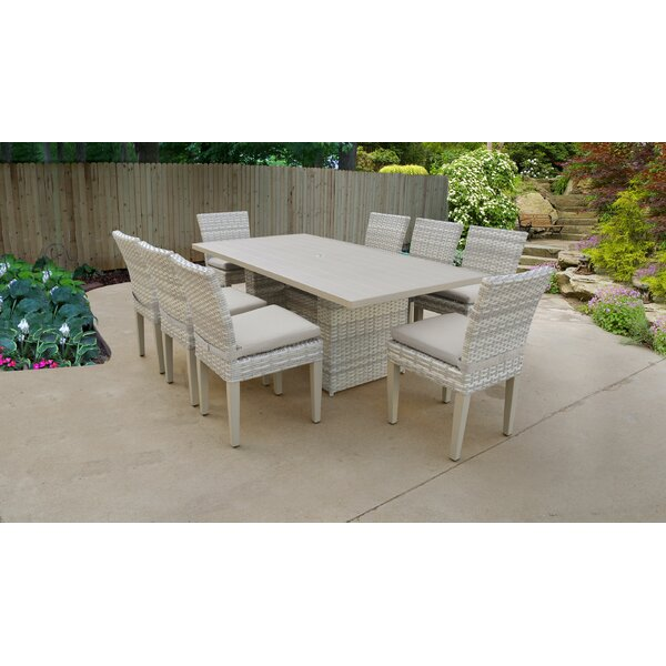 Waterbury 9 Piece Dining Set with Cushions by Sol 72 Outdoor