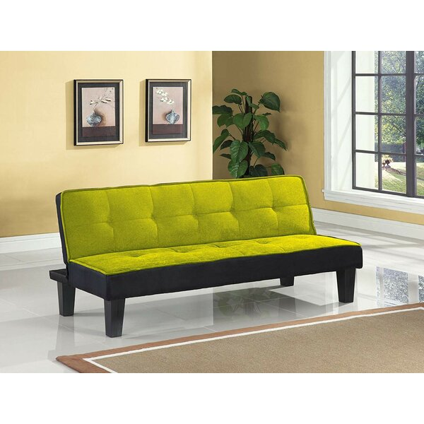 Emmanuelle Sturdy Flannel Fabric Adjustable Convertible Sofa by Latitude Run