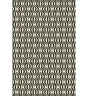 Jamie Elegant Cross Design Black/White Indoor/Outdoor Area Rug by George Oliver