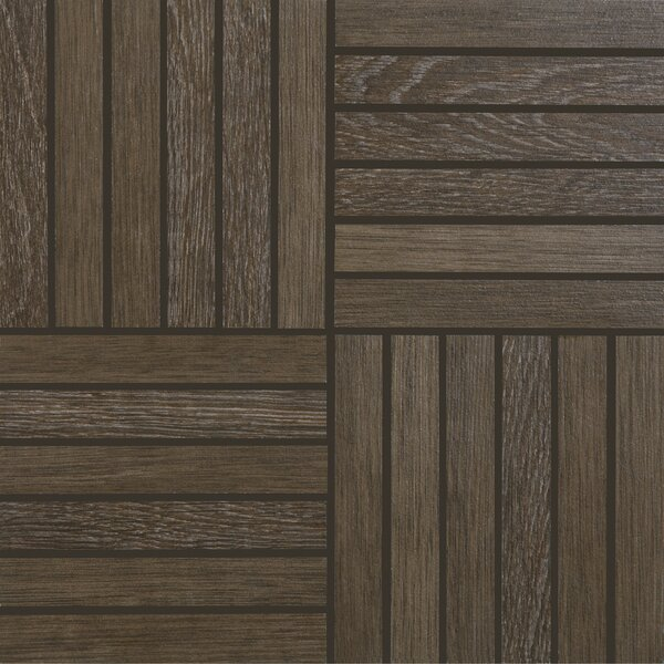 Harmony Grove 1 x 6 Porcelain Wood look Tile in Oak/Olive Chocolate by PIXL