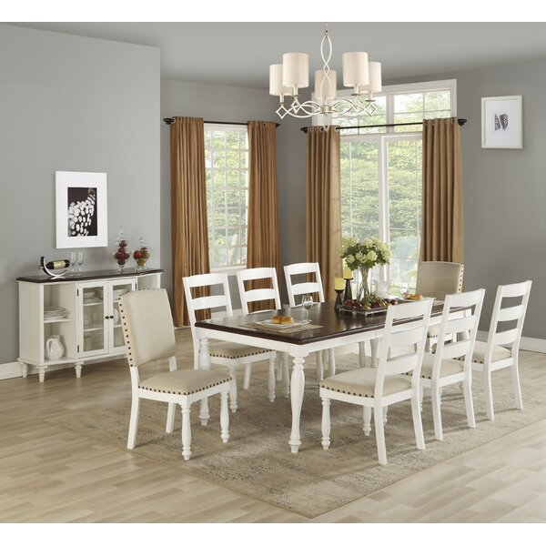 Lawerence 9 Piece Drop Leaf Dining Set by Highland Dunes