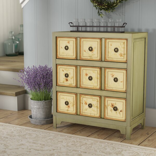 Prager Hand Painted 3 Drawer Accent chest by Lark Manor Lark Manor