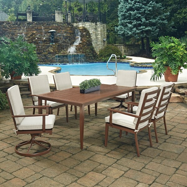 Key West 7 Piece Dining Set with Cushion by Home Styles