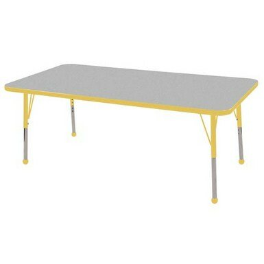 Thermo-Fused Adjustable 30 x 60 Rectangular Activity Table by ECR4kids