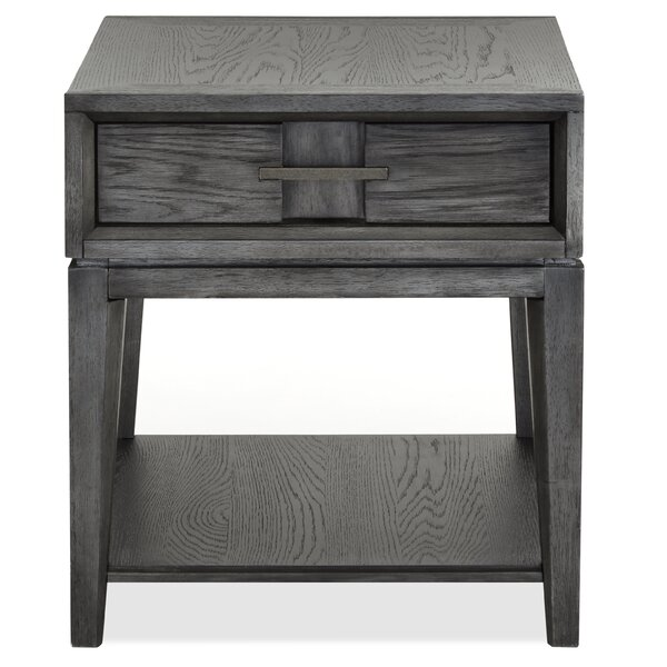 Diehl End Table with Storage by 17 Stories