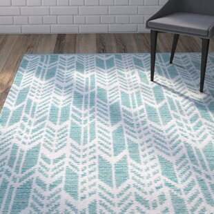 Legaspi Hand-Woven Aqua/Ivory Area Rug By Wrought Studio