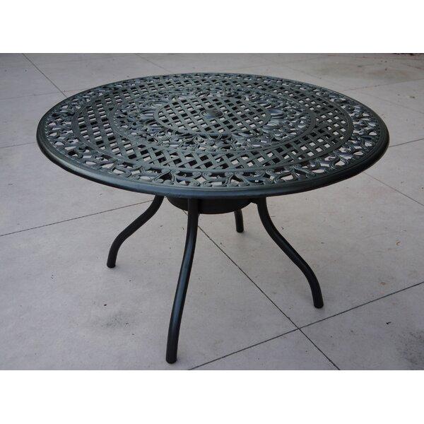 Pelaez Aluminum Dining Table by Fleur De Lis Living