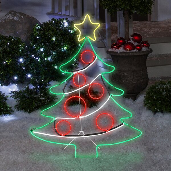 Light Glo Christmas Tree with Star Lighted Display by The Holiday Aisle