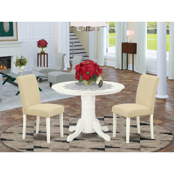 Wojtowicz 3 Piece Solid Wood Breakfast Nook Dining Set by August Grove August Grove