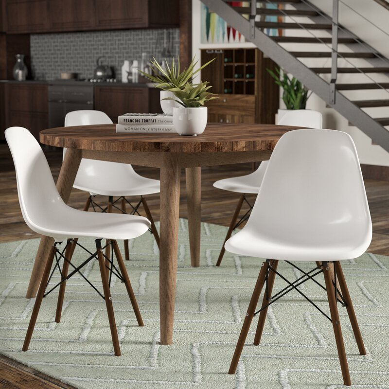 Langley Street Harrison Matte Solid Wood Dining Chair & Reviews ...