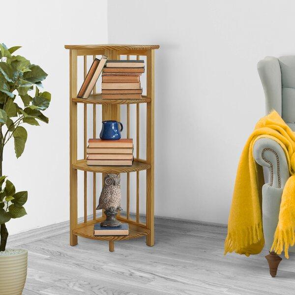 Alexyss 4 Shelf Folding Corner Bookcase By Latitude Run