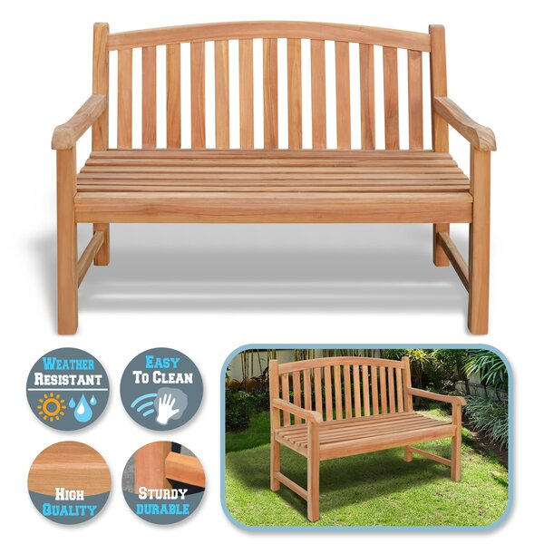 Layne Teak Garden Bench by Highland Dunes