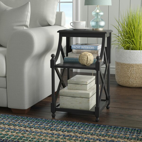 Nikki Driftwood End Table by Highland Dunes