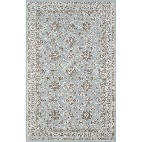Paisley Hand-Tufted Blue Area Rug by House of Hampton