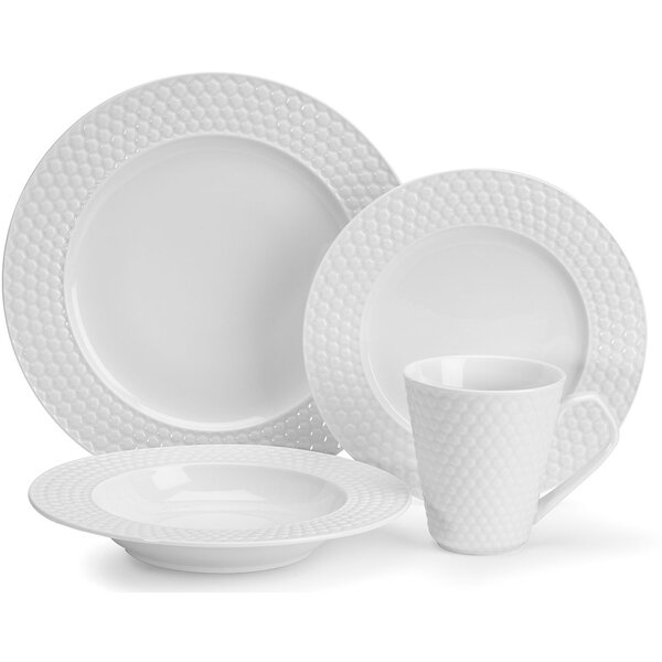 Chailles Porcelain 16 Piece Dinnerware Set, Service for 4 by Cuisinart