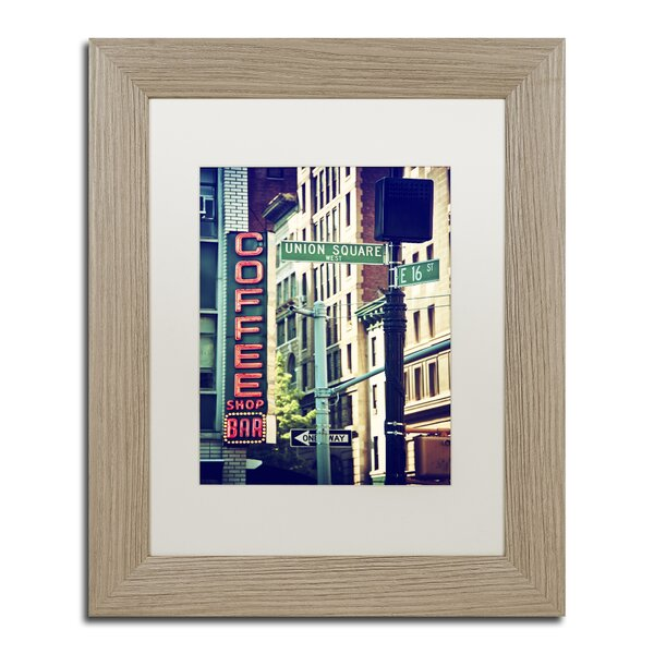 NYC Coffee Bar by Philippe Hugonnard Framed Photographic Print by Trademark Fine Art