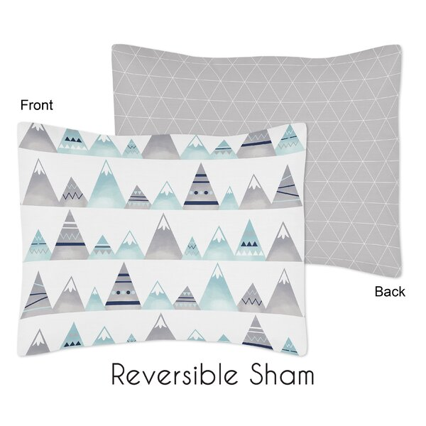 Mountains Standard Pillow Sham By Sweet Jojo Designs.