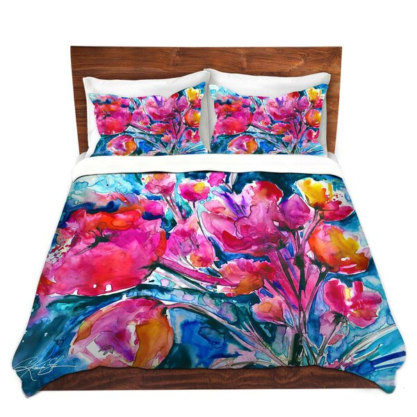 Mcelyea Kathy Stanion Colorful Blooms Microfiber Duvet Covers by Latitude Run