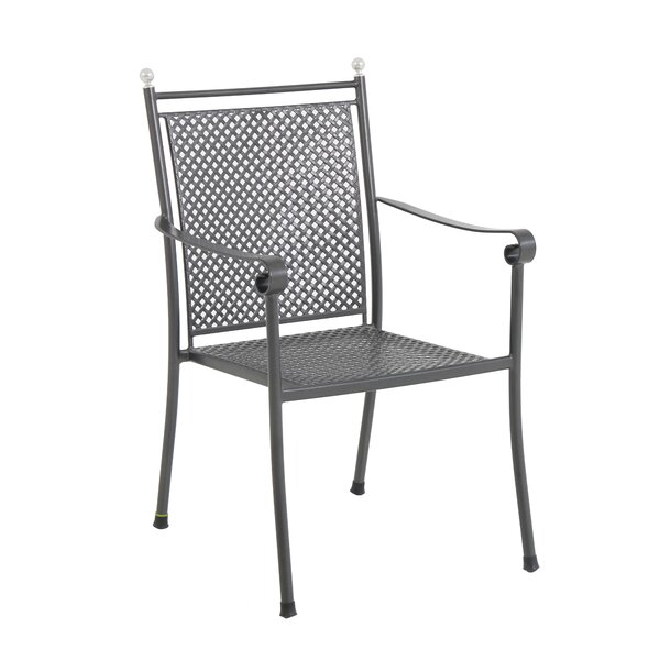 Atwater Steel Mesh Stacking Patio Dining Chair (Set of 4) by Canora Grey