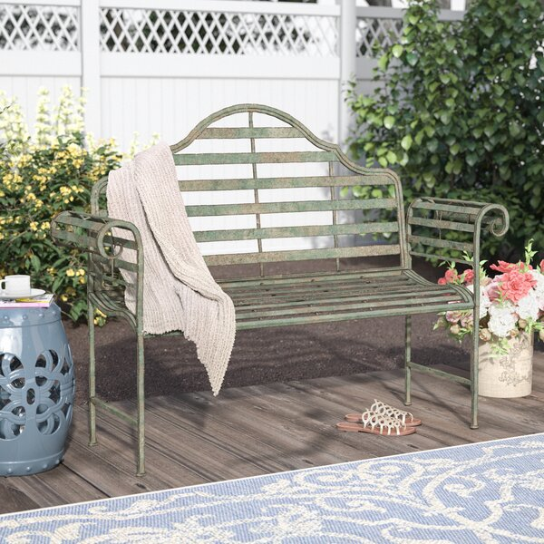 Bescott Chippendale Metal Garden Bench by Lark Manor