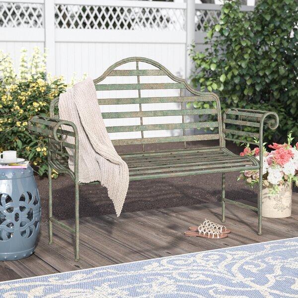 Bescott Chippendale Metal Garden Bench by Lark ManorBescott Chippendale Metal Garden Bench by Lark Manor