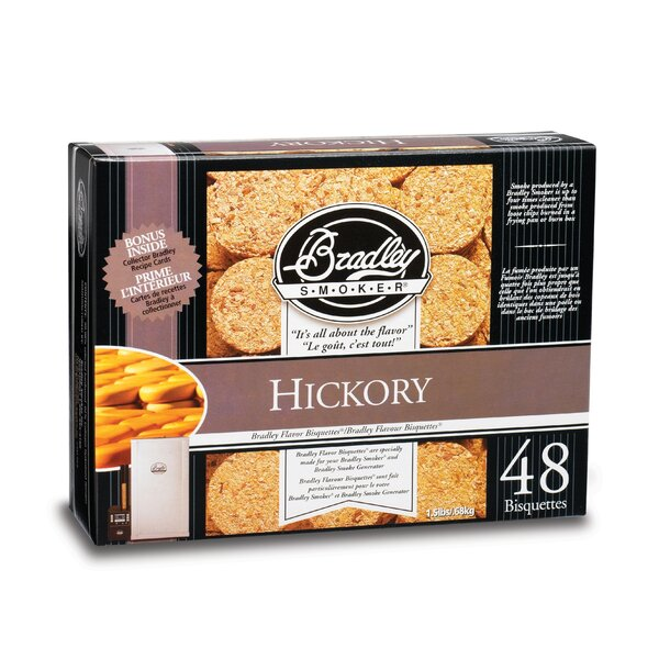 Hickory Flavor Bisquettes (Set of 24) by Bradley Smoker