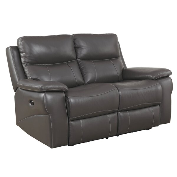 Maines Contemporary Reclining Loveseat by Red Barrel Studio