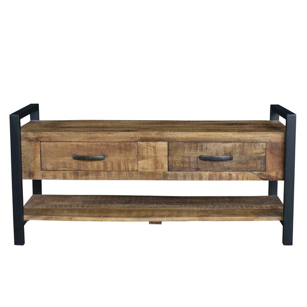 Hanks Wood Storage Bench by Union Rustic
