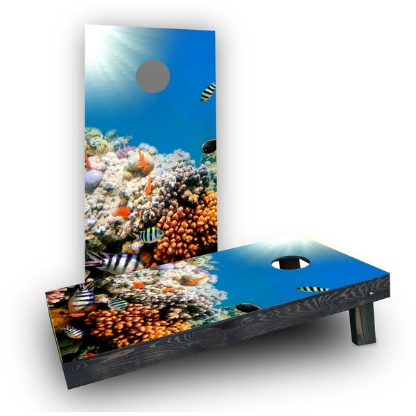 Coral Fish Cornhole Boards (Set of 2) by Custom Cornhole Boards