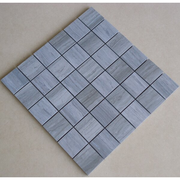 Teakwood 2 x 2 Porcelain Mosaic Tile in Matte Blue/Green by Mulia Tile