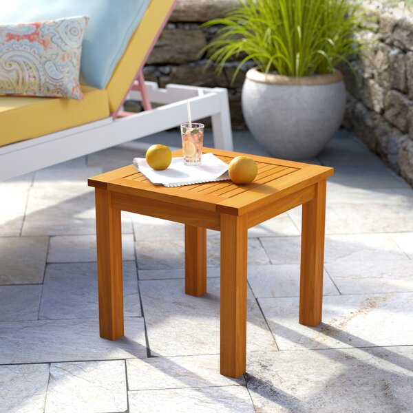 Cadsden Solid Wood Side Table by Three Posts
