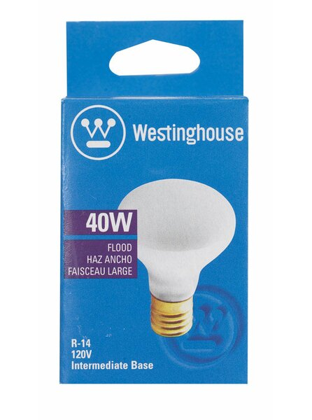 40W E17 Dimmable Incandescent Edison Floodlight Light Bulb by Westinghouse Lighting